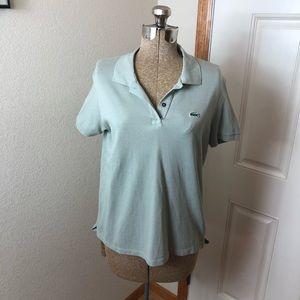 Lacoste Women's Seafoam Polo T-shirt
